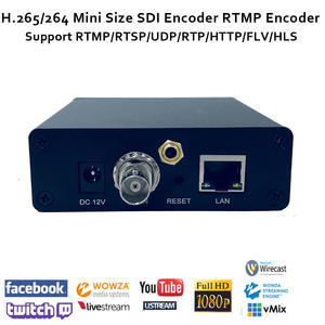 ESZYM H.265/H.264 SDI Video Encoder support HD-SDI 3G-SDI support RTMP for live broadcast like wowza,fms,youtube,facebook...