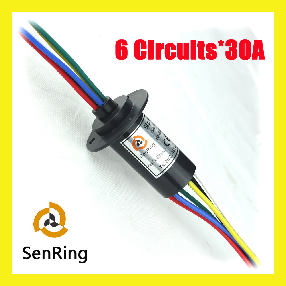 30A with 6 circuits/wires contact of mini slip ring for wind turbine generator slip ring 5pcs 2 wires circuits 30a 22mm wind generator slip ring wind turbine slip ring rotating connector capsule slip ring