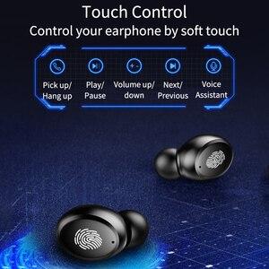 Image 3 - TWS Verdadeiro 8D do Fone de ouvido 5.0 Fones de Ouvido Bluetooth Estéreo Sem Fio Fones de Ouvido Controle de Toque À Prova D Água com LED Banco do Poder 4000 mAh
