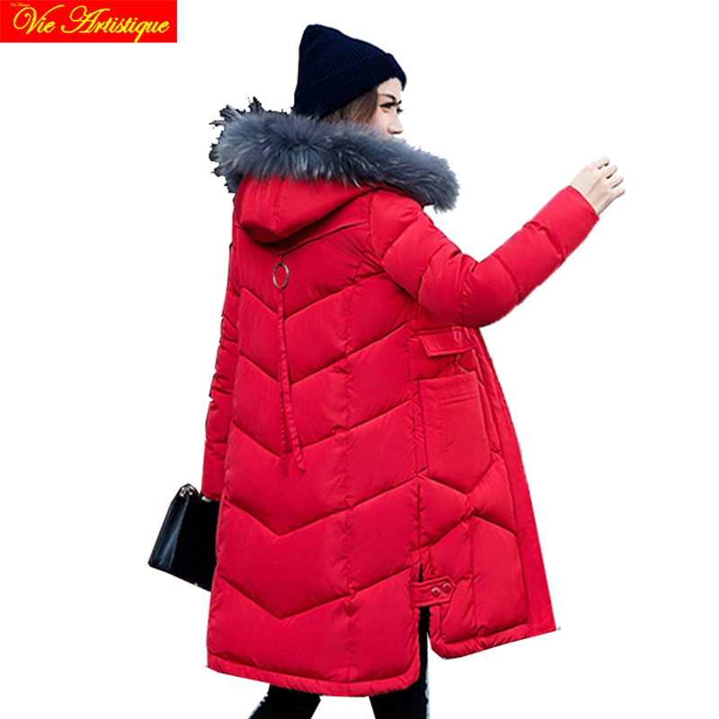 winter jacket woman parka fem me hiver female long coats jackets big size black with int ...