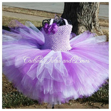 Pink Blue Purple Tulle Tutu Dress Girls Flower Girl Dresses Baby Kid Birthday Photo Party Wedding
