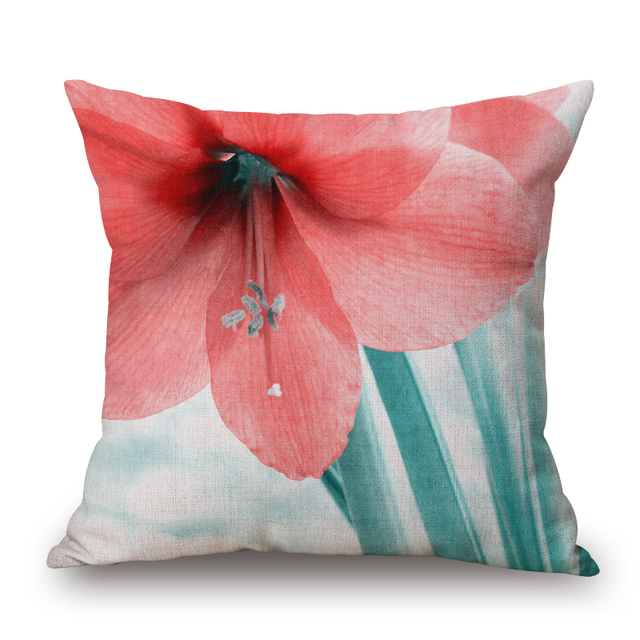 Creative Euro Home Decor Cushion Cover Floral Throw Pillows Sofa Char Seat  Vintage Flowers Cushion Cover