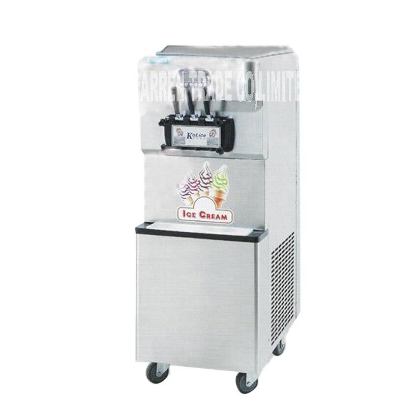 Softy Ice Cream Making Machine Commercial Steel Soft Serve Ice Cream Machine 220V/110V 3800W 55-60L/H ICM-378 Ice Cream Machine