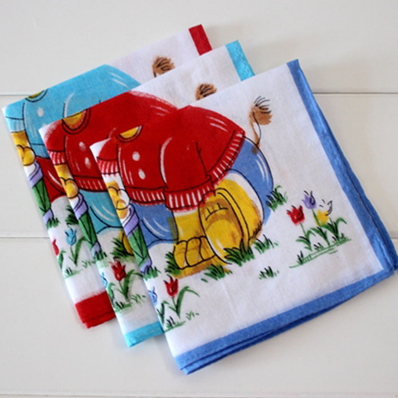 Children's handkerchief Cotton Animal elephant Soft and comfortable Handcuffs 10Pcs/Lot