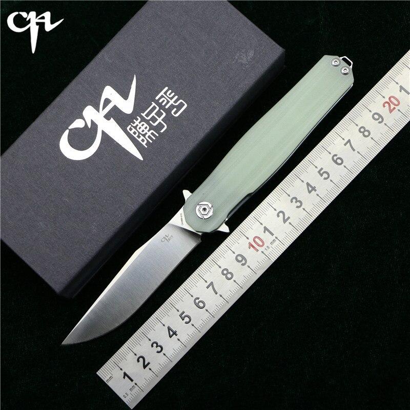CH3505-G10 Flipper folding knife D2 Blade ball bearings G10 steel handle outdoor camping hunting fruit pocket knives EDC tools цены