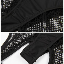 Mesh Black High Waist Fishnet Elastic Hollow Short Pants SF