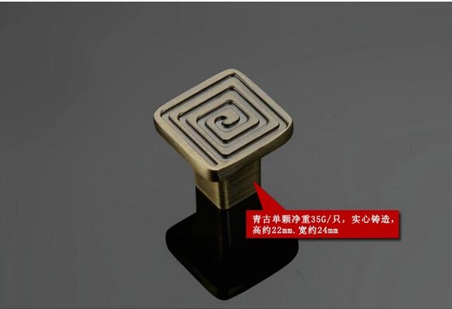 Clásico chino de la manija del grano chino luz de puerta manija patrón en forma de gabinete mango tirón del cajón de la manija