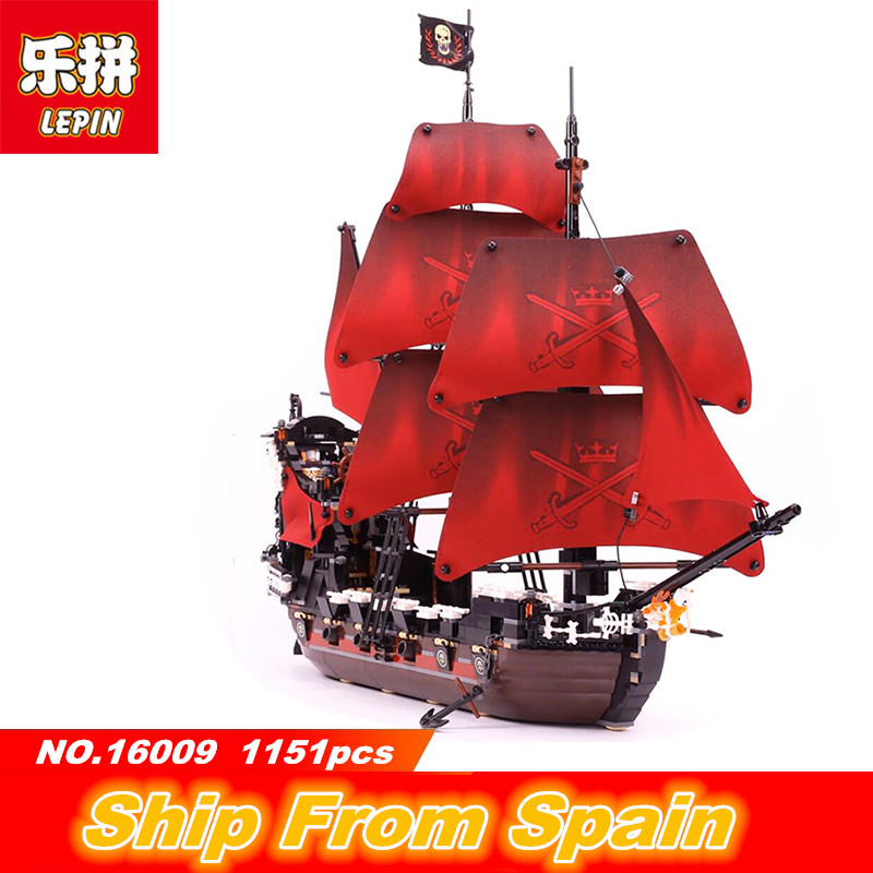 Lepin 16009 Building blocks Queen Annes revenge Pirates pirates of the caribbean Legoing 4195 Toys Bricks for kids