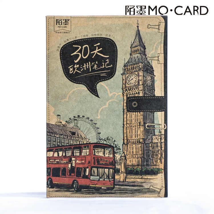 30 ชิ้น/ล็อต Vintage Kraft ยุโรป Trip โปสการ์ดการ์ดอวยพร DIY ของขวัญบุ๊คมาร์ค Deco ข้อความ