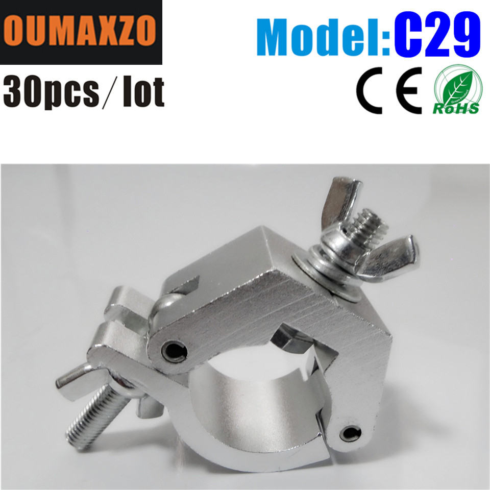 30pcs/lot stage lighting hook O-Clamp Adjustable/Swivel Couplers o-clamp ADJ O clamp Heavy duty hook aluminium truss clamp for