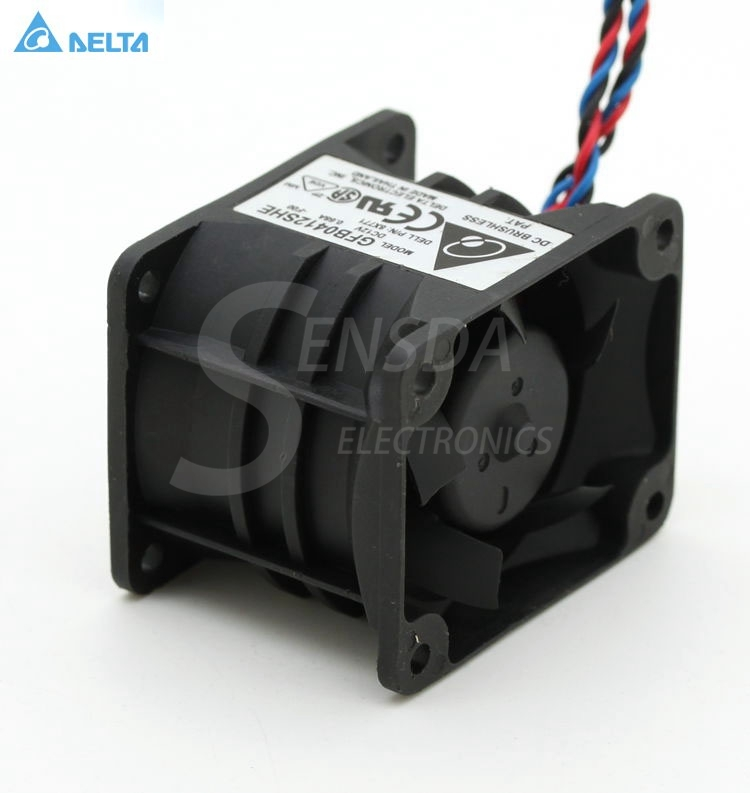 Delta GFB0412SHE  PE1750 fan 12V 0.68A 40*50*38mm DC 12V  0.68A 22.25 CFM 10000/9600 RPM cooling fan купить дешево онлайн
