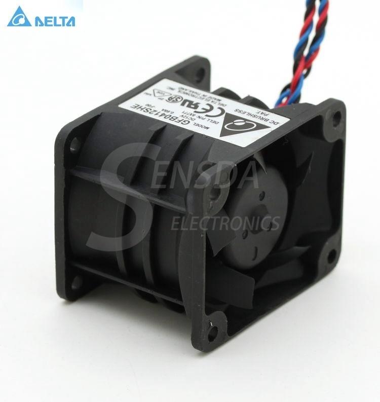 Delta GFB0412SHE  PE1750 fan 12V 0.68A 40*50*38mm DC 12V  0.68A 22.25 CFM 10000/9600 RPM cooling fan delta 12038 12v cooling fan afb1212ehe afb1212he afb1212hhe afb1212le afb1212she afb1212vhe afb1212me