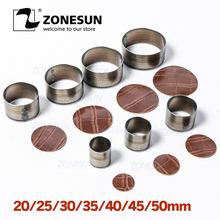 ZONESUN tam çelik deri kesme Die çelik kural kalıp 20/25/30/50mm yuvarlak kalıp delme clicker Die kesme deri PVC