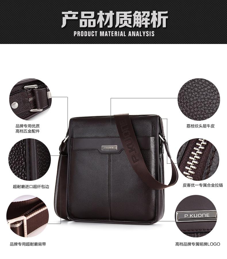 Nouveau hommes porte-documents en cuir de vachette naturel porte-documents pour hommes marque Designer en cuir véritable hommes sacs à main en cuir d'affaires hommes sac - 6