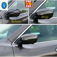 Yimaautotrims Auto Accessory Side Door Rearview Mirror Protector Cover Trim Fit For Nissan X-Trail X Trail T32 Rogue 2014 - 2020 yimaautotrims inner door protective pad kick protection pad cover trim fit for nissan x trail x trail t32 rogue 2014 2018