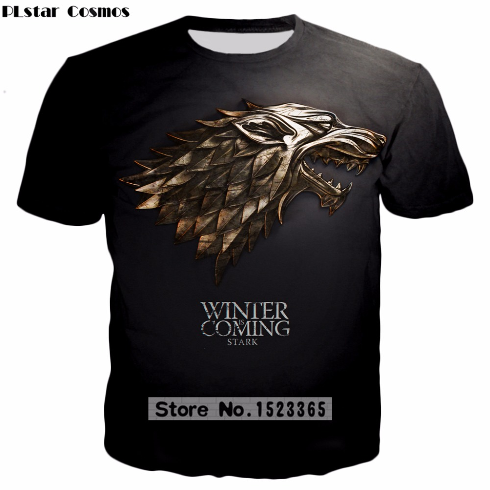 PLstar Cosmos 2018 summer New style Fashion t shirt TV play Game of Thrones 3d Print t-shirt Mens/Womens casual Tee shirts