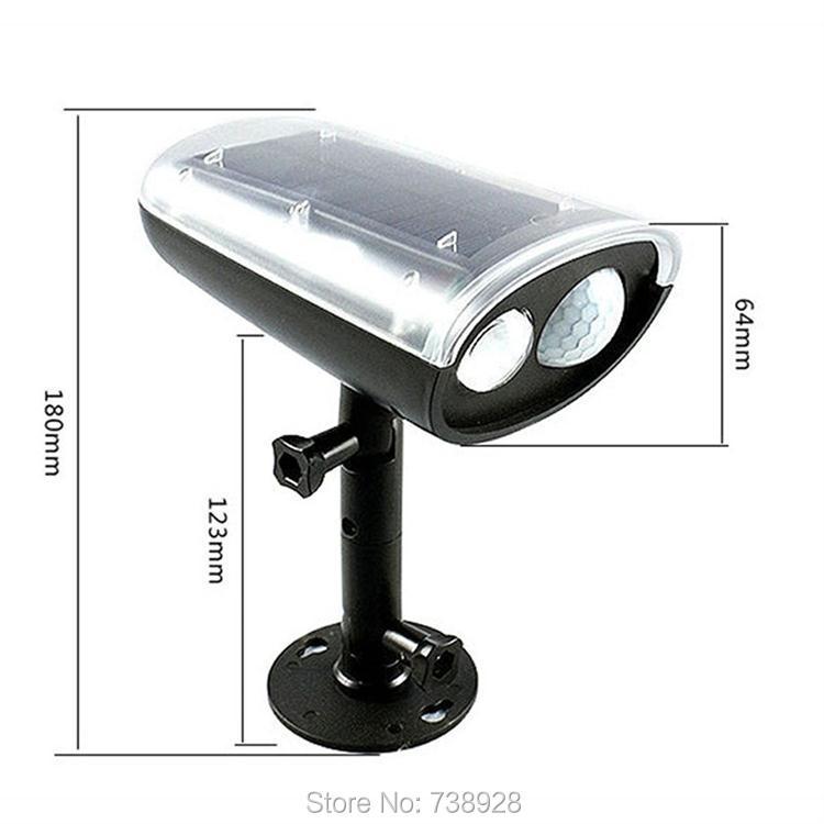 3W LED Solar Lamp Outdoor PIR Motion Sensor Solar Lights Waterproof Garden Emergency Security Spotlight Wall Mount Night Lights 5