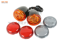 3 Color Lens Motorcycle Turn Signal Indicator Lights Case For Harley XL 883 1200 Sportster 1992