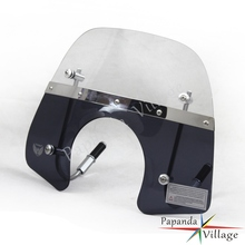 Papanda Motorcycle Smoke and Clear Windshield Windscreen Motorbike Wind Deflector for Vespa Primavera 150 Flyscreen
