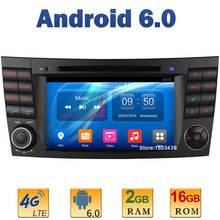 7″ Quad Core 2GB RAM 4G LTE SIM WIFI Android 6 Car DVD Radio For Mercedes-Benz E-Class W211 E200 CLS W219 CLS55 CLK W209 G W463