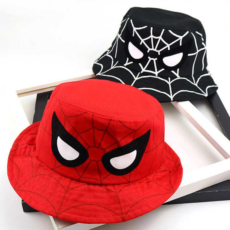 [DINGDNSHOW] 2019 バケット帽子子供の綿の男の子キャップ漫画バケットキャップ女の子刺繍コットンベビー帽子