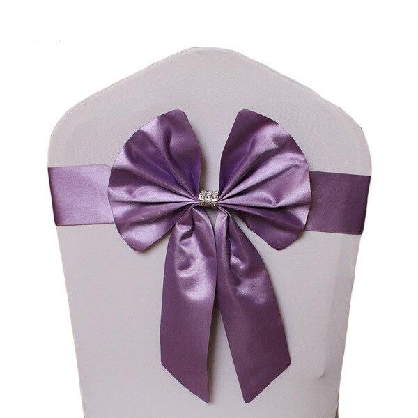 Noeud de Chaise Mariage Sashes узел бант на свадебный стул галстук украшение Stuhl Schleifen Hochzeit ssarfa Fajin Stoel Sjerp - Цвет: 008