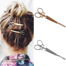 Fashion Korean Style Women Scissors Shape Hair Clip Pin Accessory new Drop ship