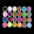 Mint  24 Colors Spangle Glitter Nail Art Paillette Acrylic UV Powder Polish Tips Set  Jul22