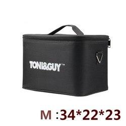 Profesional multifunción 2 capas kit de peluquería bolsa de herramientas de gran capacidad caso espesamiento impermeable bolsa de tijeras