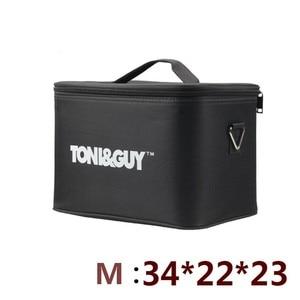 Image 1 - Profesyonel Çok Fonksiyonlu 2 Kat Kuaförlük seti Çantası Büyük Kapasiteli alet kutusu kalınlaşma su geçirmez makas çantası