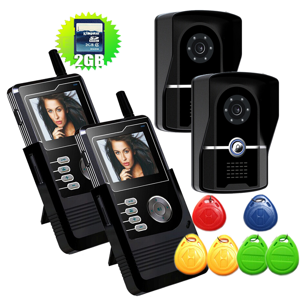 Free Shipping 7 inch Wireless WIFI Video Doorbell HD Video Doorbell with Long-Range Wireless Monitoring System