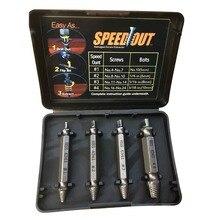 4Pcs High Quality Screw Extractor Drill Bits Guide Set Broken Damaged Bolt Remover Speed Out цена в Москве и Питере