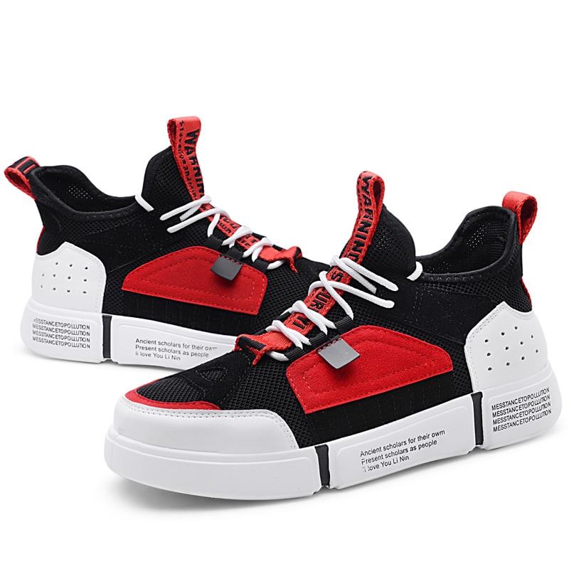 Mens Chaussures Casual Fahion Sneakers D'été Air Respirant Chaussures pour Hommes Vert Designer Dentelle-Up Adulte Mâle Hip Hop chaussures de marche