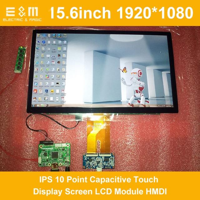 15,6 дюймов 1200x1920 ips 10 точек емкостный сенсорный экран дисплея ЖК дисплей модуль HMDI портативный Raspberry Pi 3 автомобиля прибор воздушной радиационной разведки PC