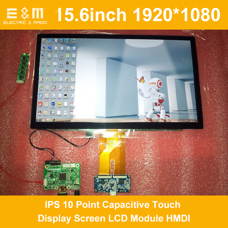 15.6 Inch 1920x1200 IPS 10 Point Capacitive Touch Display Screen LCD Module HMDI Portable Raspberry Pi 3 Car Aerial Monitor PC