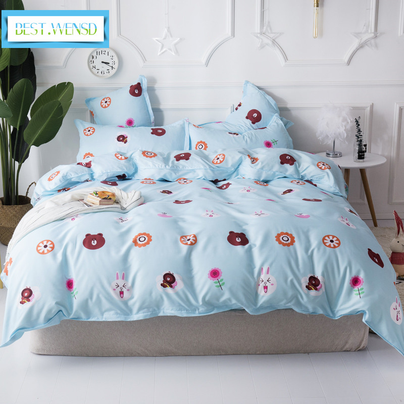 BEST.WENSD western style quilt cover comfort bedding collection king bed spreads sets Bear -lovely animal bedsheet bedding setBEST.WENSD western style quilt cover comfort bedding collection king bed spreads sets Bear -lovely animal bedsheet bedding set