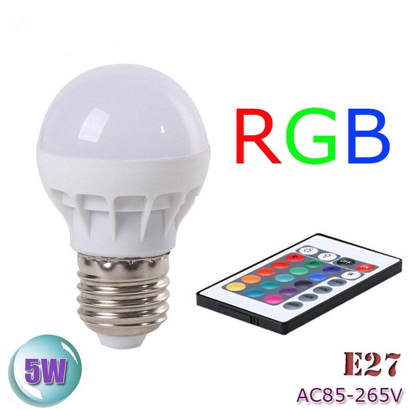 Zk40 RGB LED лампа AC85-265V E27 5 Вт led rgb пятно Blubs свет этапа волшебный праздник RGB Освещение + ИК Дистанционное управление 16 Цвета ...