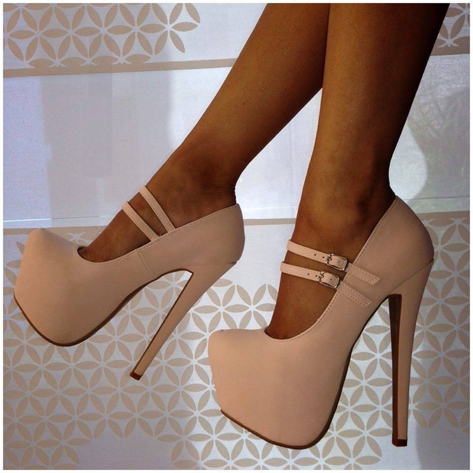 Sweet are free shipping, beige (blue, black) cashmere leather, double buckle belt, 14. 5 cm high heels, women pumps. SIZE:34 45