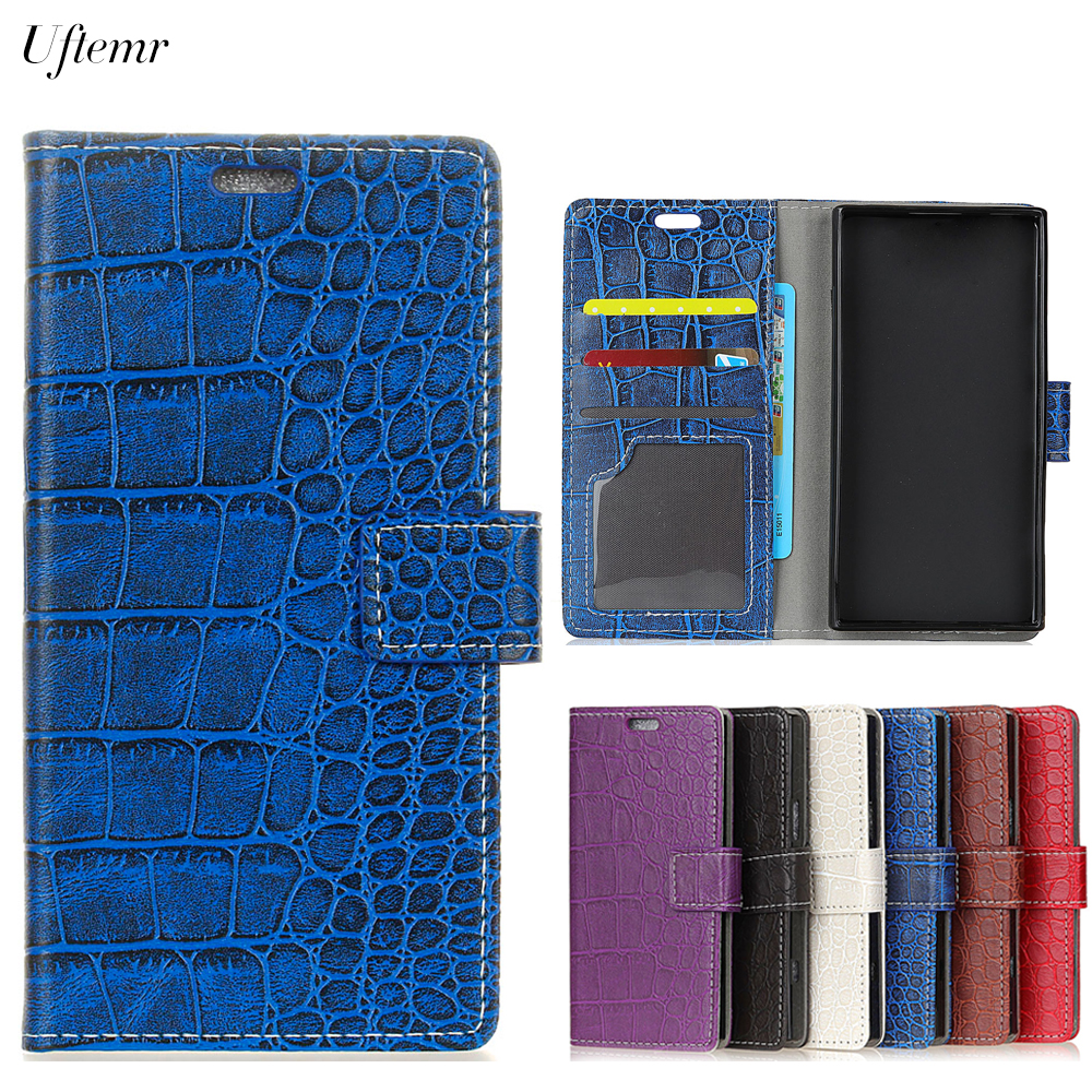 Uftemr Vintage Crocodile PU Leather Cover For Xiaomi Redmi Note 5A Protective Silicone Case Wallet Card Slot Phone Acessories