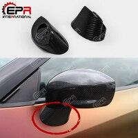 Araba-styling Için Nissan R35 GTR OEM Karbon Fiber Yan Ayna Taban Standı Parlak Kaplama GT-R Tuning Ayna Döşeme sürüklenme Vücut Kiti Parçası