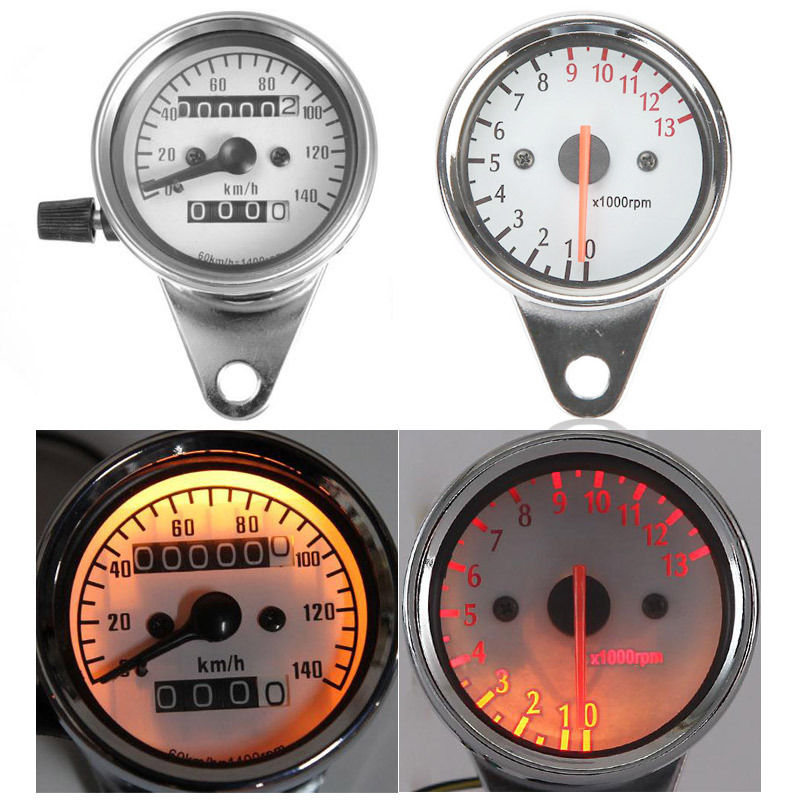 Speedometer Odo Tachometer For Honda CB Suzuki Intruder Kawasaki Yamaha Virago Cruisers Sport Street Bike old school motorcycle gauges