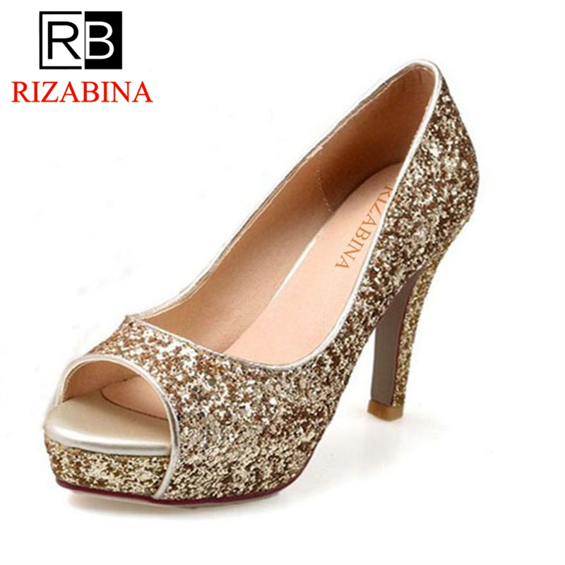 toe Bling De forme 43 Hauts or Pour Mariage Femmes Sweety blanc Spike Pompes  34 Plate Chaussures ... 7a89da43af4f