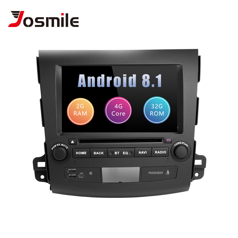 Josmile 2Din Android 8.1 Car Multimedia Player For Mitsubishi Outlander 2 3 20072008 2009 2010 2011AutoRadio DVD Head Unit Audio