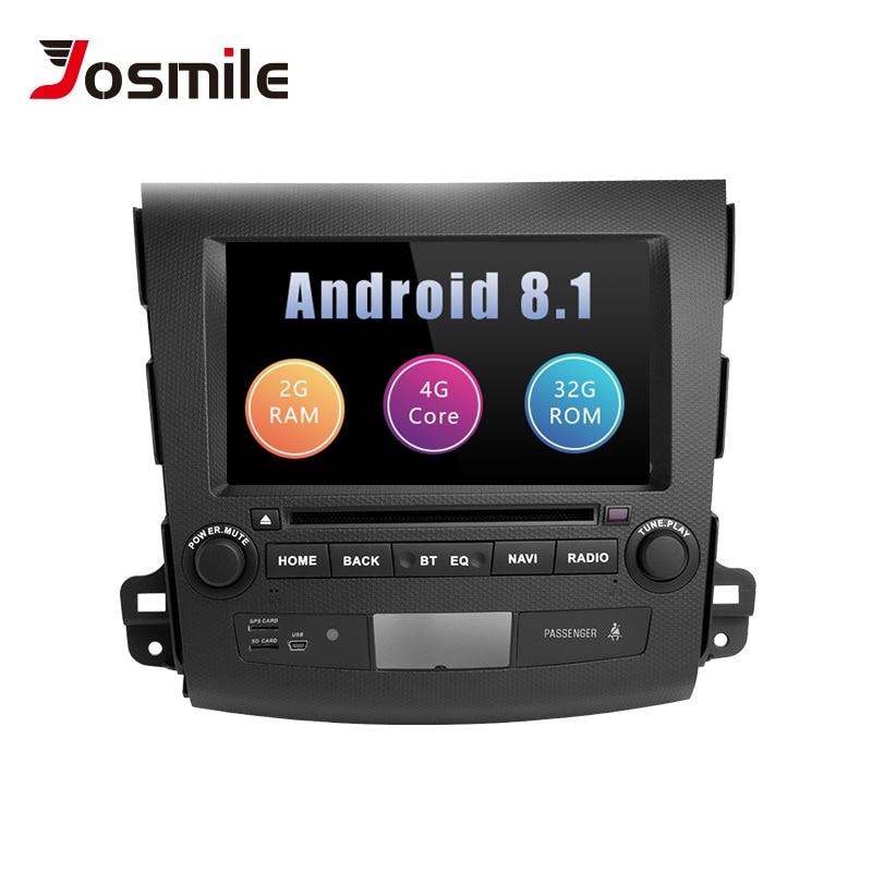 Josmile 2Din Android 8.1 Car Multimedia Player For Mitsubishi Outlander 2 3 20072008 2009 2010 2011AutoRadio DVD Head Unit Audio