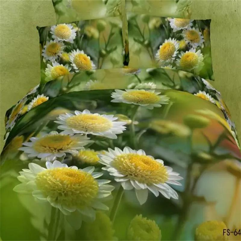 3D Daisy Flowers Bedding Sets Queen Size Pure Cotton Duvet Cover Bed Sheets Pillowcase Bedroom Sets China Air Express3D Daisy Flowers Bedding Sets Queen Size Pure Cotton Duvet Cover Bed Sheets Pillowcase Bedroom Sets China Air Express
