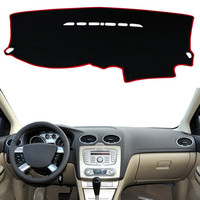For Ford Focus 2 MK2 2005 2006 2007-2011 Dashboard Mat Cover Dashmat Pad Anti-UV Sun Shade Instrument Carpet Car Accessories LHD