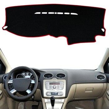 Para Ford Focus 2 MK2 2005 2006 2007-2011, alfombrilla para salpicadero, alfombrilla para salpicadero, almohadilla Anti-UV, sombrilla, instrumento, alfombra, accesorios para coche LHD