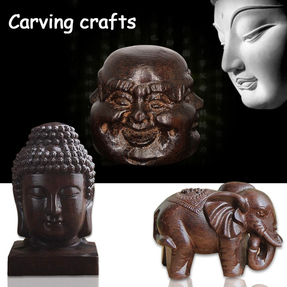 Wooden Carving Boutique Decor Blessing Buddha Arts and Crafts Statue Home Decoration Lucky Gifts statue