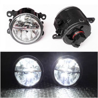 Car Styling 6000K White 10W CCC High Power LED Fog Lamps DRL Lights For Renault MEGANE