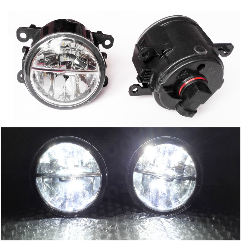 For Renault MEGANE 2 Saloon LM0 LM1 2003-2015 Car Styling 6000K White 10W CCC High Power LED Fog Lamps Lights 2 pcs set car styling 6000k ccc 12v 55w drl fog lamps lighting for renault megane 2 estate 2002 2015 35500 63j02